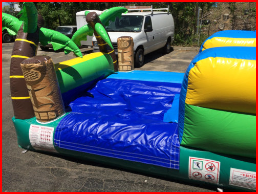 19 foot Tall Single Lane Water Slide TIKI ISLAND 1