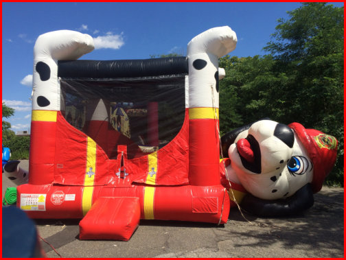 Miraculous Fire Belly Dog Bounce House Nyinflatables Home Interior And Landscaping Spoatsignezvosmurscom